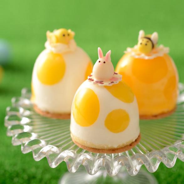 エッグケーキ~ヨーグルト仕立て~ _(はち・うさぎ・ひよこ)