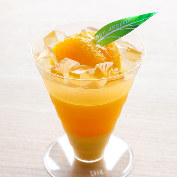 果実バヴァロワのオレンジゼリー
